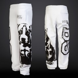 Puppy Sweatpants - white