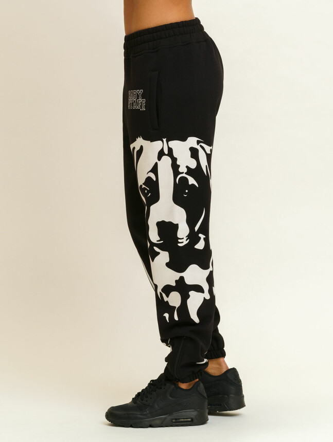 Puppy Sweatpants - black